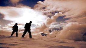 Snow shoe hiking tour trip traveling hikers walking winter expedition. Video of snow shoe hiking tour trip traveling hikers walking winter expedition stock video