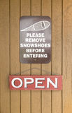 Snow Shoe Sign Royalty Free Stock Photo