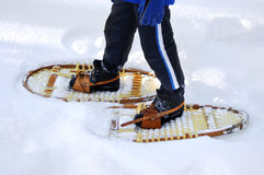 Snow shoeing Stock Photography