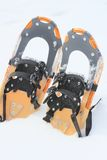 Snow shoes. Close up snow shoes on snow field (Iwate  Touhoku  Japan Royalty Free Stock Photos