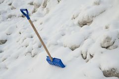 Snow shovel Royalty Free Stock Images