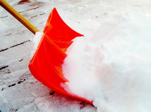 Snow Shovel Stock Photo