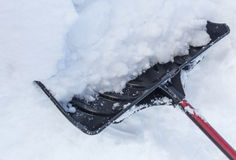 Snow on Shovel Stock Photography