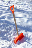 A snow shovel Royalty Free Stock Image