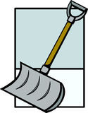 snow shovel vector illustration Royalty Free Stock Images