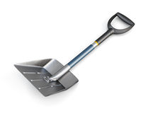 Snow shovel on white background. 3d image. Snow shovel on white background. 3d image vector illustration
