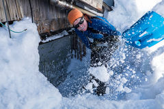 Snow shoveling Royalty Free Stock Photography