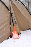 Snow shovels Stock Photo
