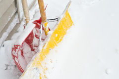 Snow Shovels Stock Images