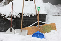 Snow shovels Royalty Free Stock Photo