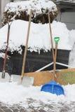 Snow shovels Royalty Free Stock Photography