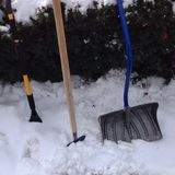 Snow shovels Stock Image