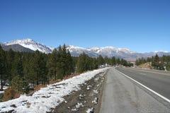 Snow on Sierra Nevada range Califiornia Stock Photos
