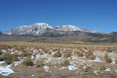 Snow on Sierra Nevada range Califiornia Stock Photo