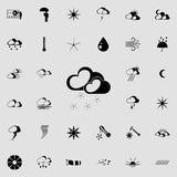Snow sign icon. Detailed set of Weather  icons. Premium quality graphic design sign. One of the collection icons for websites, web. Design, mobile app on Stock Image