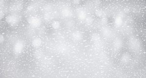 Snow on silver background.winter and christmas concept stock photo