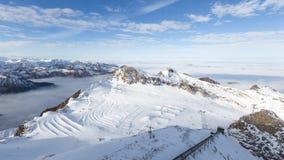 Snow ski slope Stock Images
