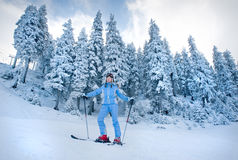 Snow skiing Stock Images