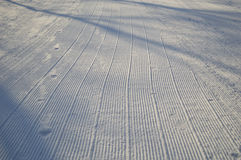 Snow skiing piste Stock Photo