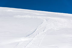 Snow skiing trail Stock Image