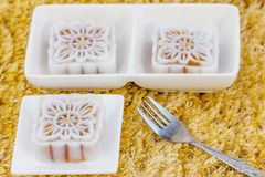 Snow skin mooncakes Royalty Free Stock Images
