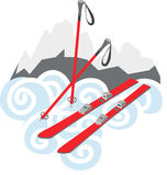 Snow Skis Royalty Free Stock Images