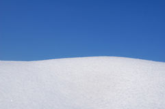 Snow and sky royalty free stock photography