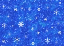 Snow sky. Blue snow background Royalty Free Stock Photos
