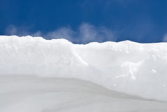 Snow and Sky Royalty Free Stock Photo