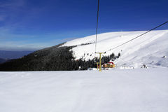 Snow and and sky. Snow and blue sky mountain panorama Royalty Free Stock Photography