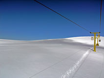 Snow and and sky. Snow and blue sky mountain panorama Stock Photos