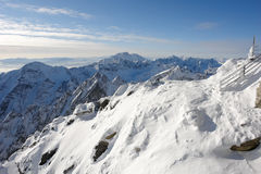 Snow and sky in Tatras. Royalty Free Stock Photography