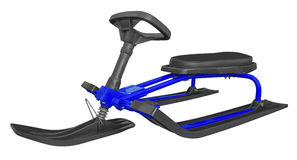 Snow sledge isolated - blue Stock Image