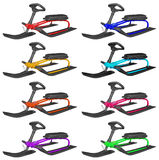 Snow sledge isolated - colorful Stock Image