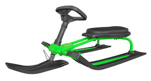 Snow sledge isolated - green Stock Image