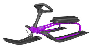 Snow sledge isolated - violet Stock Image