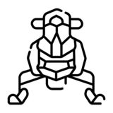 Snow Sledge, Ski Bike icon royalty free illustration