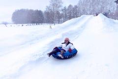 Snow Slider Stock Photo