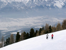 Snow slope. In austria Stock Image
