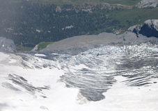 Snow on the slope of Monch and Jungfrau mountain Royalty Free Stock Images