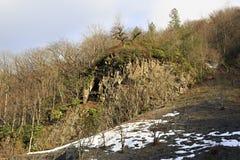 Snow on the slopes of Caucasus Mountains Royalty Free Stock Photos