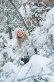 Snow and smile Stock Image