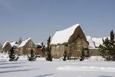 snow snowed stormgatan Arkivbilder