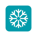 Snow, snowfall and snowflake, flat icon weather forecast isolated on white background. Vector illustration Royalty Free Stock Photos
