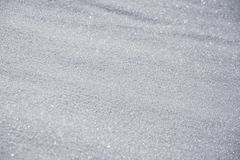 Sparkling snow crystal. Snow sparkling on the sun unsteped and untuched nature Royalty Free Stock Images