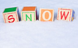 SNOW spelled out Royalty Free Stock Photography