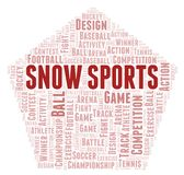 Snow Sports word cloud. Wordcloud made with text only vector illustration