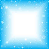 Snow square abstract background Royalty Free Stock Image