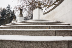 Snow on stairs Royalty Free Stock Photos