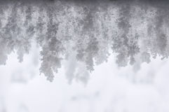 Snow stalactites texture Royalty Free Stock Photos